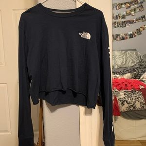 cropped men's north face long sleeve tee